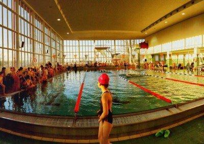 Schwimmwettkampf-Atmo